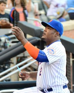 Juan Uribe on July 25; credit slgckgc on Flickr
