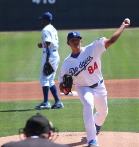 Urias in 2014 spring training. Photo: Dustin Nosler via Wikipedia.