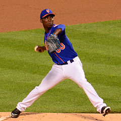 Rafael Montero pitches. Photo: slgckgc https://www.flickr.com/people/slgc/
